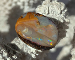 'VERY VERY PRETTY GEMMY COLORS & PATTERN' SOLID BOULDER OPAL