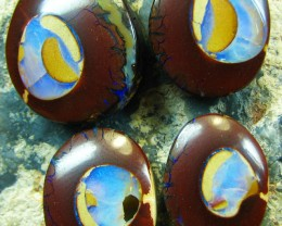4 PIECE COLLECTABLE SET OF OPALS
