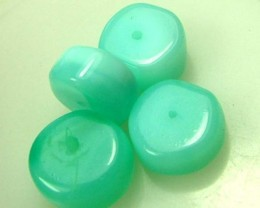 11 CTS PERU BLUE OPAL BEADS DRILLED AS-2305   (LO)