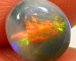 UNIQUE ROLLING CATS EYE FIRE BLACK OPAL   1.30CTS JO 1099