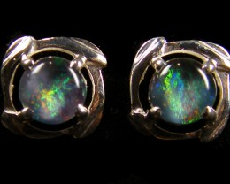 OPAL TRIPLET SILVER  EARRINGS   DESIGN  CJ 514
