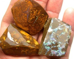 LARGE PIECES  OF BOULDER  ROUGH 378.15 CTS [BY1811]