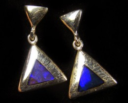 OPAL INLAY SILVER EARRINGS DESIGN  CJ 565