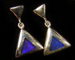 OPAL INLAY SILVER EARRINGS DESIGN  CJ 572