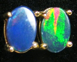 DOUBLET OPAL 14K GOLD EARRINGS 1 CTS  MYG 40