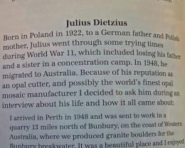 STORY OF JULIUS DIETZIUS