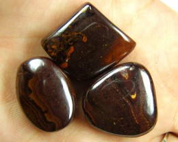 PARCEL THREE BOULDER OPAL  BEAD  125 CTS  MM 1495