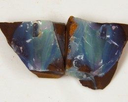 MATCHING PAIRS SPLITS  BOULDER  OPAL   19 CTS  MM 1530