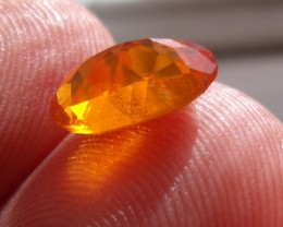 FreeForm Faceted Fire Mexican Opal 1.17 Carats.
