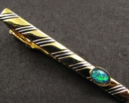 STYLISH MODERM OPAL TRIPLET TIE BAR  GOA 75