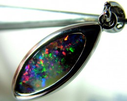 925 STERLING SILVER SOLID BOULDER OPAL PENDANT 13 CTS F-213