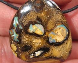 OpalWeb - Boulder Matrix Opal - PENDANT  - 48.65Cts