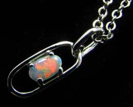 CRYSTAL  OPAL 18K  WHITE GOLD PENDANT  CJ 880