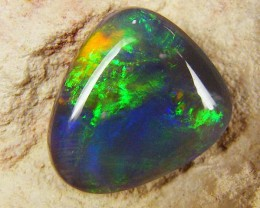 MULTI FIRE FREEFORM BLACK  OPAL  3.15CTS JO 1236
