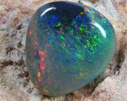 MULTI FIRE FREFORM BLACK  OPAL  2.45CTS JO 1247