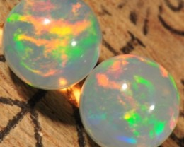 ETHIOPIAN WELO OPALS~LOOSE ROUND BEADS~MATCHING SET~2.4CTW
