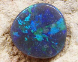 STRAW PATTERN BLACK  OPAL  .75 CTS JO 1325