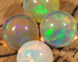 WELO GEM OPALS~LOOSE ROUND BEADS~X4~6.1CTW