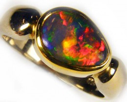 REMARKABLE RED INFERNO BLACKCRYSTAL OPAL RING SIZE10 SCO1930