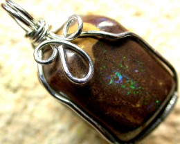 BOULDER MATRIX WIRE WRAPPED 34.30 CTS [BMA3085 ]