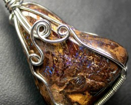 BOULDER MATRIX WIRE WRAPPED 46.55 CTS [BMA3173 ]