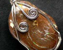 BOULDER MATRIX WIRE WRAPPED 38.45 CTS [BMA3183 ]