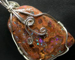 BOULDER MATRIX WIRE WRAPPED 55.95 CTS [BMA3243 ]