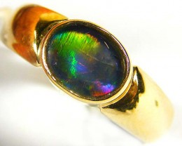 GEM TRIPLET   OPAL 14K  GOLD RING SIZE 5  CJ 1003