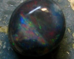 BLACK OPAL LIGHTNING RIDGE 0.90 CTS CABOCHON CUT RED FIRE A4173