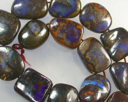 STRAND OF BOULDER OPAL BEADS 143 CTS [BC48 ]