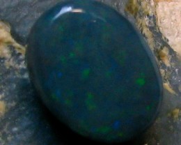 BLACK OPAL LIGHTNING RIDGE 1.00 CTS RED PIN-FIRE IN STONE A4187