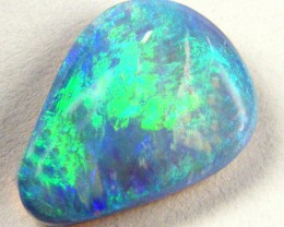 CABOCHON GREEN SHIMMER FIRE BLACK OPAL  2.65CTS JO 1362