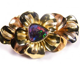 ONE OFF  BOULDER   OPAL 18K  GOLD BROOCH  CJ 1054