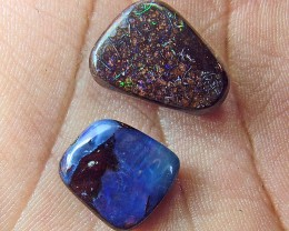 26.60 CTS  2 PC BOULDER OPAL STONE DRILLED  Parcel  AS5895