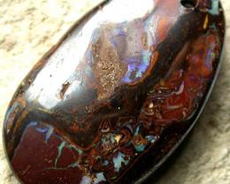 54.25 CTS KOROIT MATRIX STONE- DRILLED POLISHED  [BMA 748]