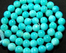 ''TURQUOISE BLUE''  PERU  OPAL BEADS -  109.30 CTS [VS 3617]