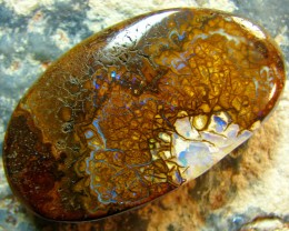 BARGIN BOULDER OPAL INTERESTING FORMATION HIGH POLISH 67 CT A4967