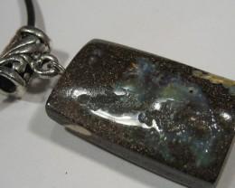 OpalWeb - Solid Boulder Opal Pendant -  52.55Cts