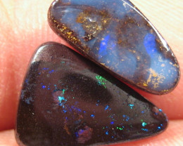 2  Boulder Opals -  Twice the Fun :-) - Parcel of stones.