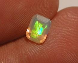 *Multi Coloured Ethiopian Welo Opal Facet 0.75 ct*