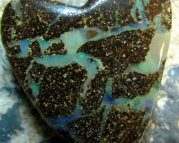 * -SIDE DRILLED - * BOULDER OPAL PENDANT STONE 49.40 CTS A5096