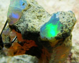 FFF Rough Ethiopian Opal 12.40 Carats  code QOG566