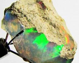 FFF Rough Ethiopian Opal 9.45 Carats  code QOM586