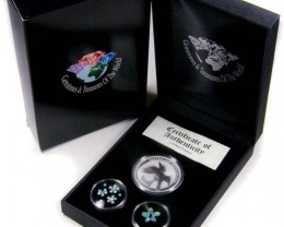 2011 TREASURES OPAL & KOOKABURRA SILVER COIN SERIES 16-100