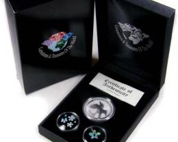 2011 TREASURES OPAL & KOOKABURRA SILVER COIN SERIES 16-100