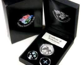 2011 TREASURES OPAL & KOOKABURRA SILVER COIN SERIES 14-100