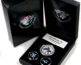 2011 TREASURES OPAL & KOOKABURRA SILVER COIN SERIES 13-100