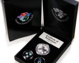 2011 TREASURES OPAL & KOOKABURRA SILVER COIN SERIES 11-100