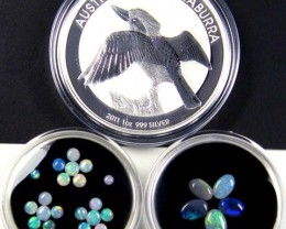 2011 TREASURES OPAL & KOOKABURRA SILVER COIN SERIES 4-100