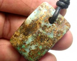 STUNNING  BOULDER PENDANTS WITH STRAP [ AP37  ] 50.00    CTS